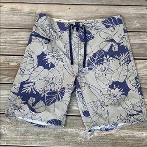 Patagonia Board Shorts. Floral Print. 35